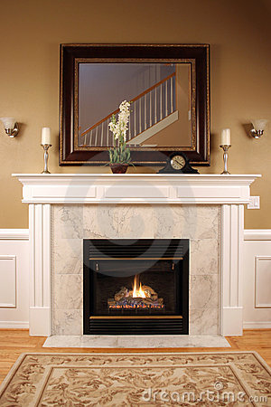 Free Warm And Cozy Fireplace Stock Images - 3721544