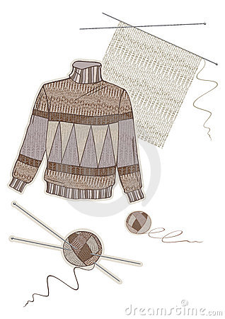 Warm brown wool sweater