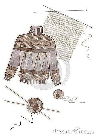 Warm brown wool sweater