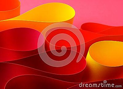 Warm color arc wave form