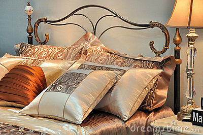 Warm color and shining bedding