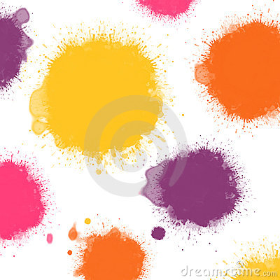 Warm colors ink blots