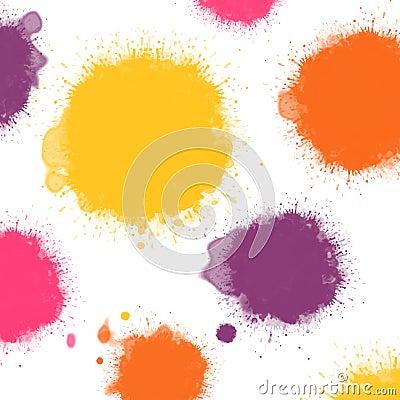 Warm colors ink blots
