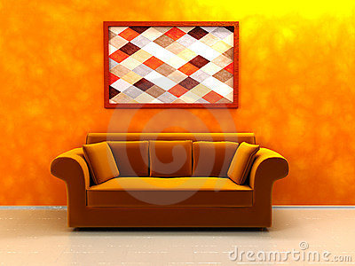 Warm colors interior