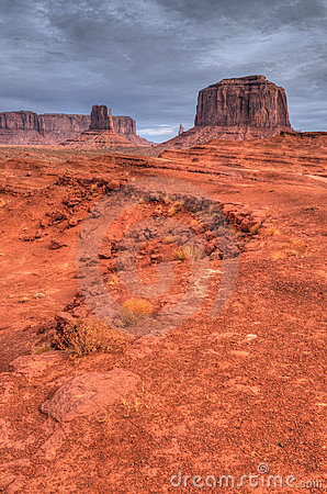 Warm dawn Monument Valley