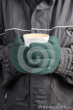 Warm drink in Winter