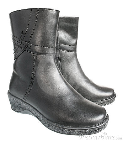 Warm female boots.