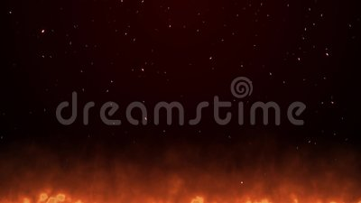 Warm fire christmas mood video background. Seamless loop circle. Full HD format footage 8 seconds long, 30 fps, mp4 stock video footage