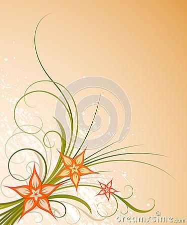 Warm floral design