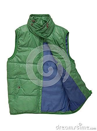 Warm green waistcoat