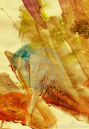 Warm grunge watercolour