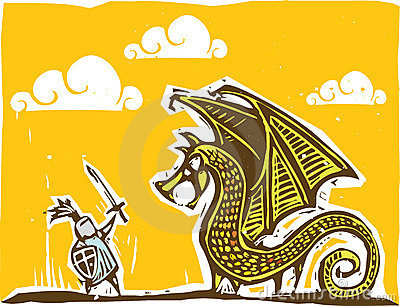 Warm Knight and Dragon