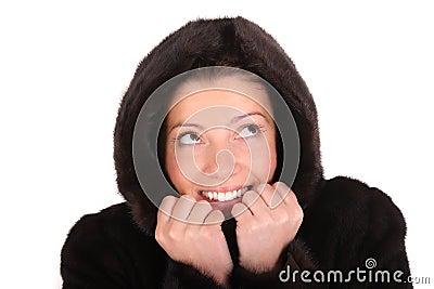 Warm mink coat