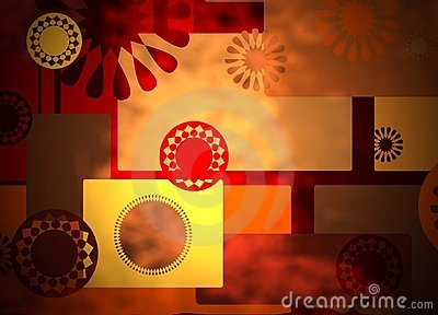 Warm rich abstract collage background
