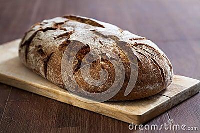 Warm rye bread