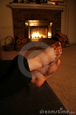 Free Warm Scene - Resting By The Fire. Stock Photo - 1581300