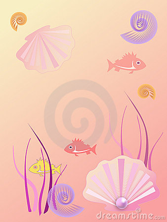 Warm sea background