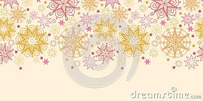 Warm stars horizontal seamless pattern background