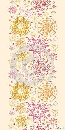 Warm stars vertical seamless pattern background