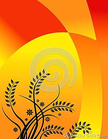 Warm summer floral design