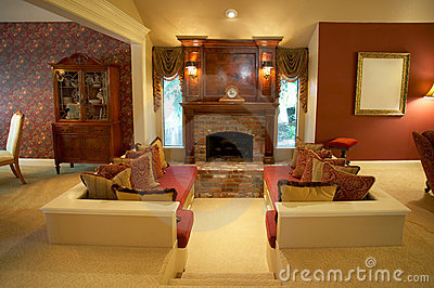 Warm Sunken Living Room