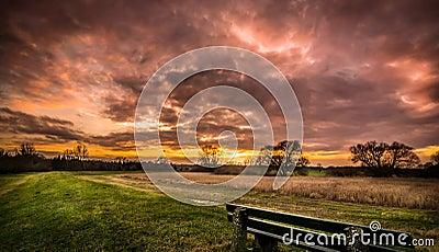 A warm sunset sunrise