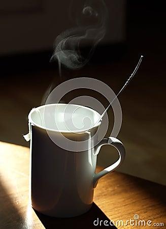 Warm tea mug