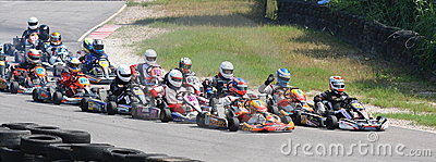 Warm up in Heat 2 of Rotax Senior Max Editorial Photography