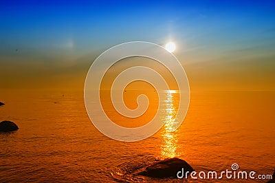 Warm, Yellow Sunset