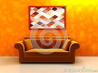 warme farben innen stockbilder bild 10319804. Black Bedroom Furniture Sets. Home Design Ideas