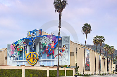 Warner Bros. Film Studio in Burbank, CA Editorial Photography