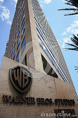 Warner Bros headquarter in California Editorial Stock Image