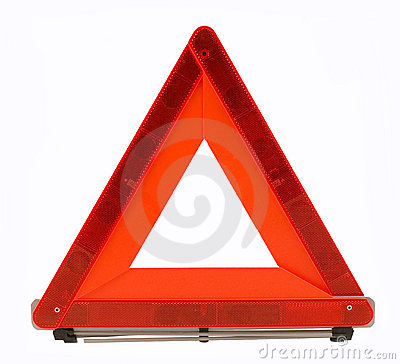 Warning accident traffic sing (red triangle)