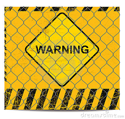 Free Warning And Wire Banner Stock Images - 20251404