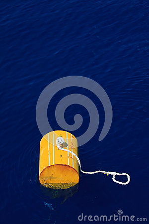 Free Warning Buoy Off The Coast Of Maine Against A Foggy Background, Buoy On The Sea For Support Supply Boat. Stock Images - 43412954