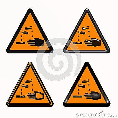 Warning dangerous products symbol