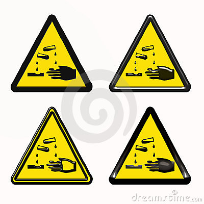 Warning dangerous products symbol