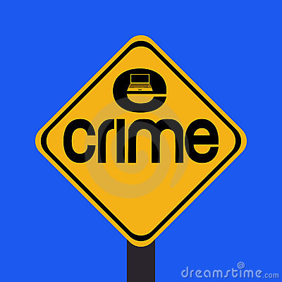 Warning e-crime sign