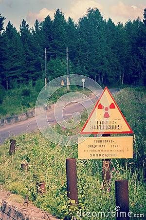 Warning of gamma radiation