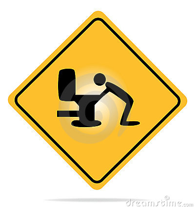Warning, hangover sign.