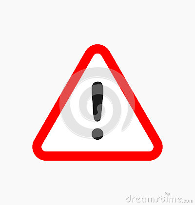 Free Warning Icon / Sign In Flat Style Isolated. Caution Symbol For Y Stock Image - 92961181