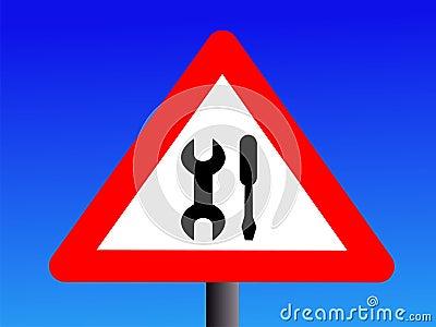 Warning maintenance sign