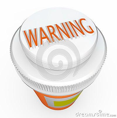 Free Warning - Medicine Bottle Cap Warns Of Danger Royalty Free Stock Images - 20807599