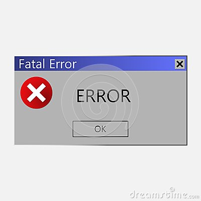 Free Warning Message About An Error In The Operating System. Vector I Stock Photography - 111835102