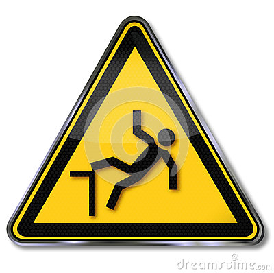 Free Warning Of Risk Of Falls Stock Images - 66827744