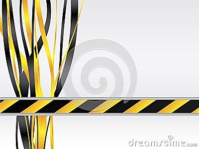 Warning with ribbon