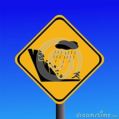 Free Warning Risk Of Landslide Royalty Free Stock Images - 5048369