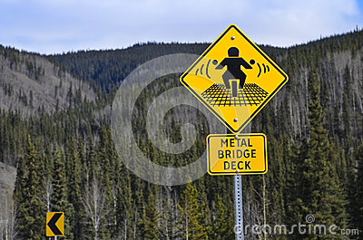 Warning road sign for motor-bikers