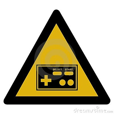 Warning sign - arcade