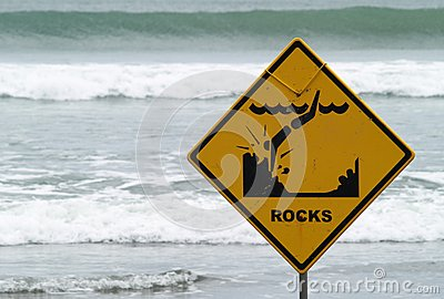 Warning Sign On The Beach Royalty Free Stock Photos - Image: 19263828